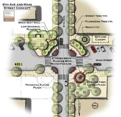 6th & Main Conceptual Streetscape Plan