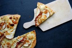 Alsatian Flammkuchen with Taleggio, Apples and Bacon ° eat in my kitchen