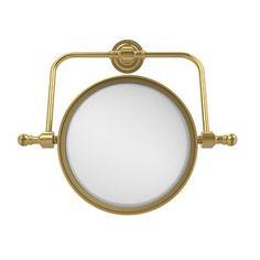 Allied Brass Universal Swivel Mirror Magnification: 2x, Finish: Polished Nickel