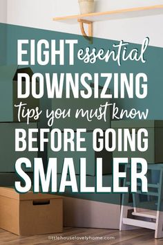 I remember searching for downsizing tips before we moved to a small home.I was completely overwhelmed with decluttering and the idea that I was somehow demeaning myself because I was moving to a smaller space – crazy, right? Condo Living, Home And Living, Tiny Living, Frugal Living, Apartment Living, Small Space Living, Small Spaces, Downsizing Tips, Home Organization Hacks