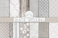 RUSTIC WEDDING digital paper by RoyalDigitalStore on Creative Market