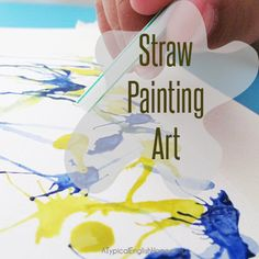 A Typical English Home: Straw Painting Art