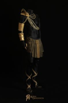 The Diplomat Fully Body Regalia Made By Royal Dissension Men's Costume Men's Armor Men's Body Chains Gladiator Sandals Gold Look Religious Spartan Warrior Egyptian Greek God Costume, Gold Armor, Spartan Warrior, Fantasias Halloween, Shoulder Armor, Full Body Costumes, Fantasy Costumes, Halloween Disfraces, Future Fashion