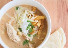 Hello again, Somewhat Simple readers! It's Alicia from The Baker Upstairs, back for my monthly post, and I have the perfect fall dinner to share with you. This slow cooker chicken chili is the perfect dinner for a chilly fall day… it's delicious comfort food at its best! I love using my slow cooker in the fall because I find