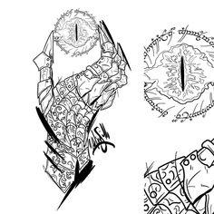 Art & tattoos by me. Elbisches Tattoo, Ring Tattoos, Body Art Tattoos, Tattoo Drawings, Sleeve Tattoos, Hobbit Tattoo, Tolkien Tattoo, Lotr Tattoo, Gandalf Tattoo