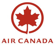 Air Canada Airlines logo for maple leaf pattern