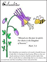 Flower Bible Verse coloring Sheet for Beatitude Sunday School lesson from www.daniellesplace.com