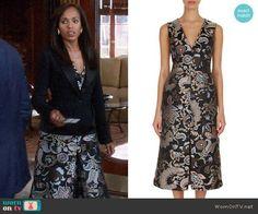 Olivia's paisley dress on Scandal.  Outfit Details: https://wornontv.net/83701/ #Scandal