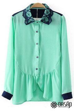 oasap.com - Stylish Ruffled Chiffon Shirt