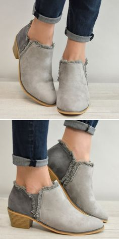 Grey Booties 24.99!!! These are ADORABLE!! [ad] #fashion #booties #clothing #OOTD