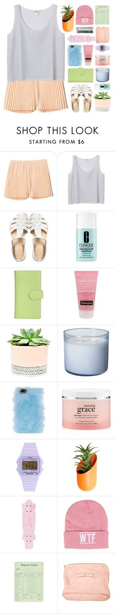 """""""charlotte (tag)"""" by imslaying ❤ liked on Polyvore featuring Monki, ASOS, Clinique, Royce Leather, Neutrogena, Hostess, Skinnydip, philosophy, Timex and Wallter"""