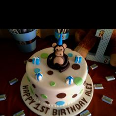 #Monkey Boy Themed Cake