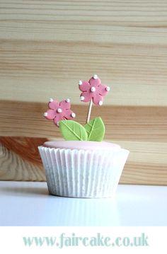 Cute Pink Flower Cupcake