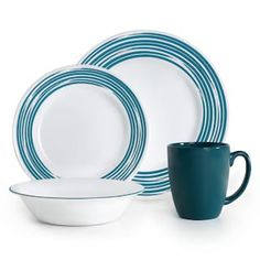 Corelle dinnerware at Kohl's - Shop our fabulous selection of place settings, including this Corelle Brushed Dinnerware Set, at Kohl's. Kohls, Dinnerware, Kitchen Design, House Design, Plates, Hair Band, Tableware, Dinner Ware, Licence Plates