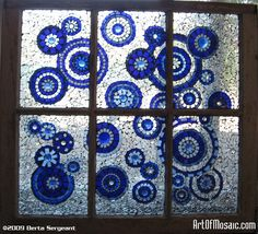 WILDRAIN Stained & tempered glass, glass gems and millefiori. 27 x 30 inches