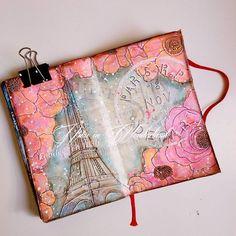 Art Journaling Tutorial: Spring in Paris Nika in Wonderland