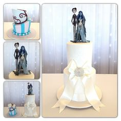 Tim Burton's Corpse Bride wedding cake