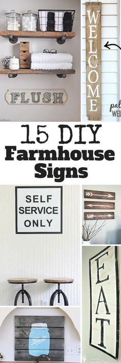 DIY Farmhouse Signs You Can Easily Make Yourself