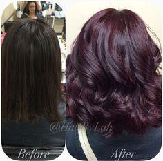 Love this color haircolor hair color burgundy 519110294549337547 Black Cherry Hair Color, Cherry Hair Colors, Hair Color And Cut, Chocolate Cherry Hair Color, Hair Colour, Plum Hair, Dark Hair, Dark Burgundy Hair, Purple Brown Hair