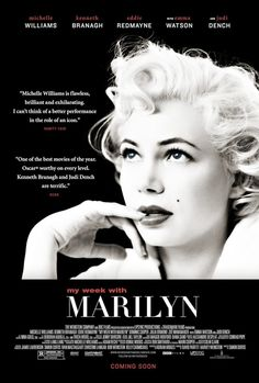 Michelle Williams shines in My Week with Marilyn, capturing the magnetism and vulnerability of Marilyn Monroe.
