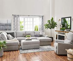 Broyhill Parkdale Living Room Collection Living Room Grey, Living Room Sofa, Living Room Furniture, Living Rooms, Light Gray Couch, Grey Couch Decor, Grey Sectional, Loft, Interior Design