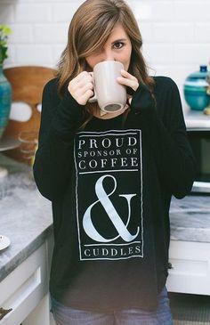 proud sponsor of coffee black long sleeve shirt