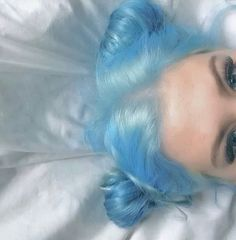 Inspiring Pastel Hair Color Ideas – My hair and beauty Light Blue Hair, Hair Color Blue, Green Hair, Color Streaks, Blonde Color, Blond Ombre, Purple Ombre, Ombre Hair, Blonde Dye