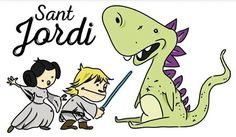 #santjordi #starwars #princess #jedi #dragon  #flydesign  Preparando#santjordi2016!!! Este año, haz un regalo original!!! https://society6.com/product/sant-jordi-knight_print#1=45  http://www.latostadora.com/flydesign