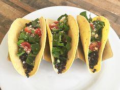 Black lentil taco meat!
