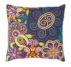 groovy floral pillow from #jennykrauss   Retail Price $96 http://jennykraussretail.com/store/index.php?route=product/product&path=59&product_id=108
