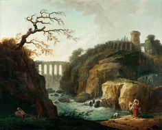 Робер, Юбер (Париж 1733-1808)  --  Пейзаж с акведуком и ручьем. часть 1 Лувр