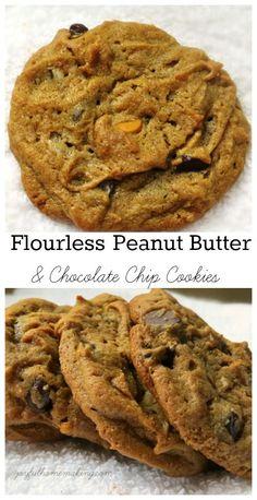 No Flour Peanut Butter & Chocolate Chip Cookies