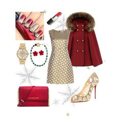 """""""Merry Christmas!"""" by gabriela-cotosck ❤ liked on Polyvore featuring Diane Von Furstenberg, Michael Kors, Dolce&Gabbana, Christian Louboutin and Chanel"""