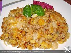 Krautauflauf mit Hackfleisch und Kartoffeln, ein sehr leckeres Rezept aus der Kategorie Gemüse. Bewertungen: 4. Durchschnitt: Ø 3,3.