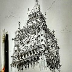By @solaceinterior #arch_more Follow @arch_more for more daily sketches!
