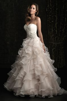 i actually tried this dress on when i went wedding dress shopping :) -nicole