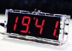 DIY KIT Electronic Clock LED + Thermometer (Red/Blue/Green/White) With this digital clock DIY kit, you can make a nice clock by yourself. With a transparent. Diy Clock, Red Blue Green, Digital Alarm Clock, Diy Kits, Arduino, Led