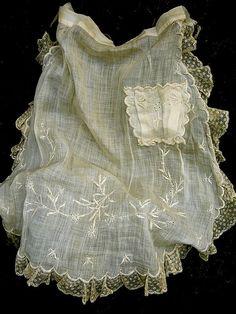 sweet cotton lawn tea apron - 1920