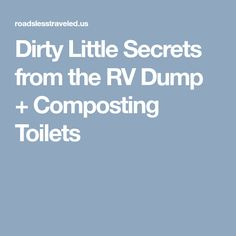 Composting Hacks Dirty Little Secrets from the RV Dump Composting Toilets - Did you know that most RV holding tank products are toxic? Are RV composting toilets better? How do you dump RV tanks How To Make Compost, Travel Trailer Camping, Rv Travel, Travel Trailers, Rv Redo, Rv Homes, Composting Toilet, Rv Life, Outdoor Fun