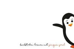 Buchstaben lernen mit Pinguin Paul Lerngeschichte und Printable