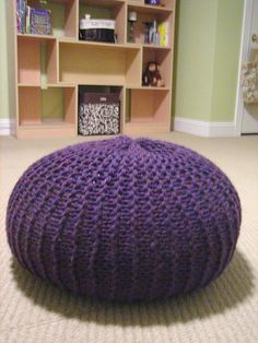 Hey mom, want a big knitting project? I so wanted bean bags for the girls, but these are even cuter! I'll stuff them if you knit them!