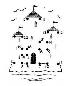 dot to dot castle worksheet for kids | Crafts and Worksheets for Preschool,Toddler and Kindergarten