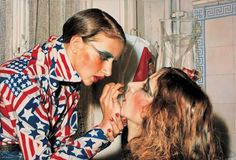 Franz Gertsch Marina making up Luciano 1975 Oil on canvas click t Franz Gertsch, Museum Ludwig, Mass Culture, Sweet Station, Realistic Paintings, Fashion Mode, Creative Director, Album Covers, Oil On Canvas