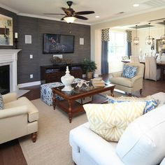 I Think This Is Going To Be My Exact Living Room And Dining In Corner Fireplace LayoutCorner FireplacesFireplace IdeasLiving
