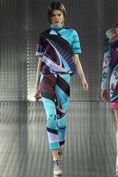 Mary Katrantzou Neoprene printed top & skinny pants. #ss14