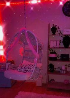 Indie Room Decor, Cute Bedroom Decor, Room Ideas Bedroom, Bedroom Inspo, Chill Room, Cozy Room, Neon Bedroom, Butterfly Room, Pretty Room