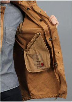 Ten c Fishtail Parka Jacket Brown