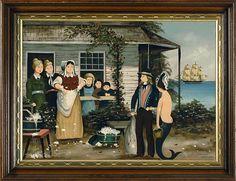 RALPH EUGENE CAHOON, JR., American, 1910-1982, Family introd