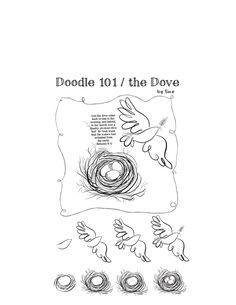Doodle 101 / the Dove Scripture Doodle, Scripture Art, Bible Art, Scripture Journal, Doodle Drawings, Doodle Art, Round Robin, Bibel Journal, Bible Doodling