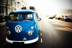 VW blue van